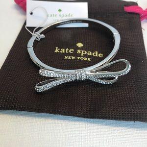 Kate Spade Silver Finish Bow Bracelet